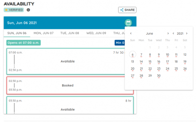 Host Feature – Calendar Sync, real time space availability